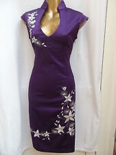 Oriental Purple Party Chinese dress 18 20