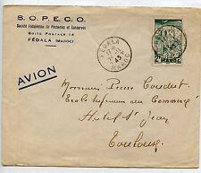 AIR MAIL PAR AVION LETTRE ENVELOPPE PUBLICITAIRE / MAROC FEDALA / TOULOUSE 1945