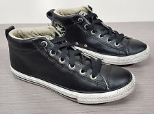 Converse 'Street' Mid Sneaker Black Leather Big Kid (8-12 yrs.) Size 5.5 / 38