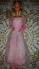 BARBIE DOLL KISSING 1978 VINTAGE RARE PINK DRESS VERY PRETTY STEFFIE BIG LIPS