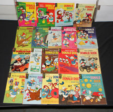 VINTAGE GOLD KEY SILVER WALT DISNEY DONALD DUCK COMIC COLLECTION LOT (4.0 - 7.5)