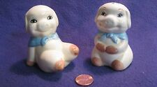 Happy Playful Pale Bandana Pig Salt and Pepper Shakers Ceramic             52