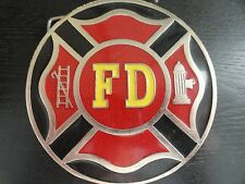 FIREFIGHTERS / FIREMAN / FIRE DEPARTMENT FD Bergamot Metal Belt Buckle - USA
