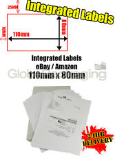 1000 x EBAY / AMAZON A4 INTEGRATED LABELS 110x80mm (S11 / G11) ADDRESS PEEL OFF