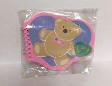 *Collectible* Sanrio Vintage Just for Fun Bear Mini Heart Notepad 1985 Sealed