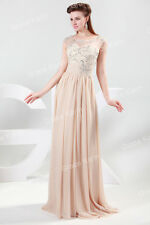 Long Applique Formal Evening Party Ball Gown Prom Bridesmaid Dress UK Size 6~16+