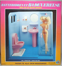 DAN L TOYS 80's B/O SHOWER BATHROOM DETAILED PLAY SET FOR BARBIE / SINDY DOLL