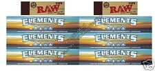 ELEMENTS KING SIZE SLIM ROLLING RICE PAPER KINGSIZE PAPER AND RAW HEMP TIPS SET