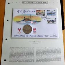 1995 B/U ALDERNEY £2 COIN 50th ANN OF LIBERATION OF THE ISLANDS PNC + COA WW 11