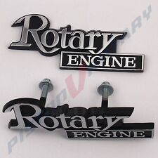 ROTARY ENGINE Grille & Rear Garnish Badge Set for MAZDA 10A 13B 12A RX4 RX5 RX7