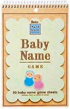 NEW Baby Shower BABY NAME GAME Sheets 50 GUESTS VICTORIA LYNN Free Shipping