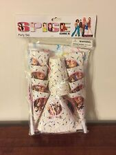 Spice Girls Party Set Kit 8 Cups Plates Hats Horns  1 Tablecloth New Sealed NOS