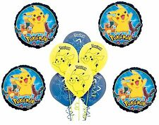 Pokemon Pikachu and Friends Latex Balloons Foil Mylar Party Favors 10pc