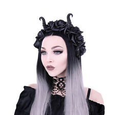 Restyle - DIABOLICAL & ROSES HEADBAND, Gothic headpiece