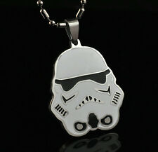 Star Wars Clone Trooper Pendant Chain Metal necklace Fashion Boy Man LZ14