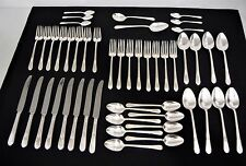 1847 ROGERS BROS 48 pieces ADORATION 1930 SILVER PLATE FLATWARE 8 PERSON
