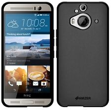 Amzer Exclusive Pudding Matte TPU Skin Fit Case Cover For HTC One M9+ ME - Black