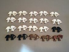 Huge Lot of 20 Lego Horses minifigs White Black Animal Army Castle minifig T358