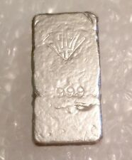 Trident Silver 1 Troy Oz 999 SILVER Pour Bar Ingot Reversed Stamped