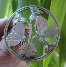 VERY LARGE Georg Jensen Danish Silver Midnight Blossom  Brooch no. 283  Denmark