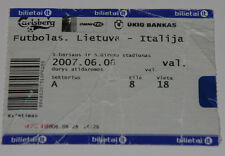 old TICKET EURO 2008 q * Lithuania - Italy in Kaunas