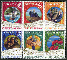 New Zealand 1452-1457a Bl/6, MNH. Christmas.Scenes from 1st Service. Music, 1997