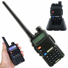 Baofeng UV-5R VHF/UHF Dual-Band DCS DTMF Walkie Talkies Two-way Radio + Earpiece
