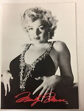 Postcard - Marilyn Monroe 1953 beaded gown red signature 80s
