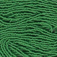 Czech Charlotte Seed Beads 13/0 Opaque Green 31910 (6 strand hank)