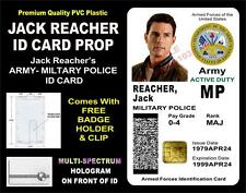 JACK REACHER (US ARMY -  MILITARY POLICE) ID Badge / Card Prop - HOLOGRAPHIC PVC