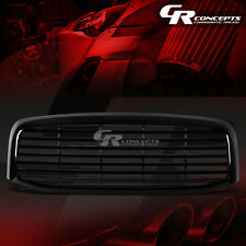 BLACK ABS FRONT BUMPER/HOOD SQUARE MESH STYLE GRILL COVER FOR 06-09 DODGE RAM