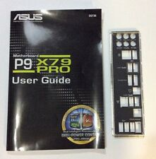 I/O PLATE & MANUAL FOR  ASUS P9X79 PRO MOTHERBOARD