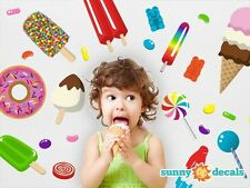 Candy Fabric Wall Decals, Reusable, Repositionable by Sunny Decals