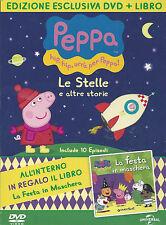 Dvd + Libro «PEPPA PIG ♥ LE STELLE E ALTRE STORIE ♥ LA FESTA IN MASCHERA» nuovo