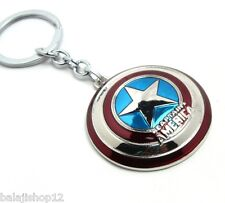 New Captain America Shield Metal Keychain The Avenger Marvel Super Hero Keyring