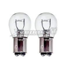 2x BAY15D P21/5W 1157 Car Rear Tail & Brake Stop Light Lamp Bulbs Clear Glass