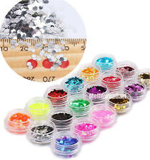 18 Colors Nail Art Glitter Beauty Hexagon For UV Gel  Acrylic Polish Decoration