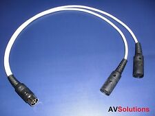 'Y' Adaptor/Splitter for Bang & Olufsen B&O BeoLab PowerLink Mk2 (5 Mtrs,White)