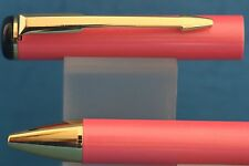 New Baoer No. 801 Baby Pink Ballpoint Pen with Gold Trim
