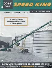 Farm Equipment Brochure - Speed King 600 Grain Auger Parts List Ass Inst (F4232)
