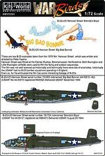 Kits World Decals 1/72 NORTH AMERICAN B-25J MITCHELL Brenda's Boys & Big Bonnie