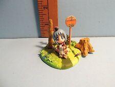 """Binchou-tan 1.75""""in PVC Diorama Cute Blue Hair Innocent Girl Sitting Alone cute!"""