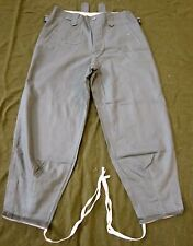 WWII GERMAN HEER WAFFEN M43 REED GREEN HBT COMBAT FIELD TROUSERS-LARGE