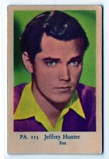 1950s Swedish Film Star Card PA Set #115 American Film & TV Actor Jeffrey Hunter