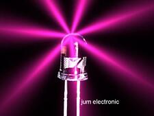 20 pièces DIODES/LED/5mm rond rose 5000mcd Max./NEUF