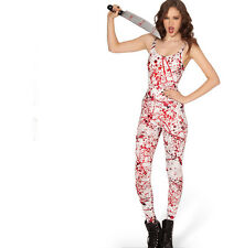Black Milk Clothing Blood Splatter Catsuit One piece Jumper SOLD OUT Onesie