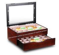 48 Kammern Teebox Teekiste Teedose Tee Ferocase Germany Qualität WoW Angebot NEU