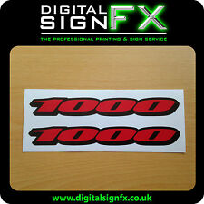 Suzuki GSXR 1000 Stickers Motorbike Motorcycle Vinyl  Decals x2 @ 150 x 19mm