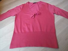 BODEN LADIES PINK CROPPED BOW FRONT JUMPER SIZE 14