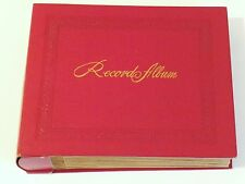 "VINTAGE DECCA 7"" RECORD HOLDER ALBUM,RED 24 PAGES,NO WRITING ON THE INDEX"